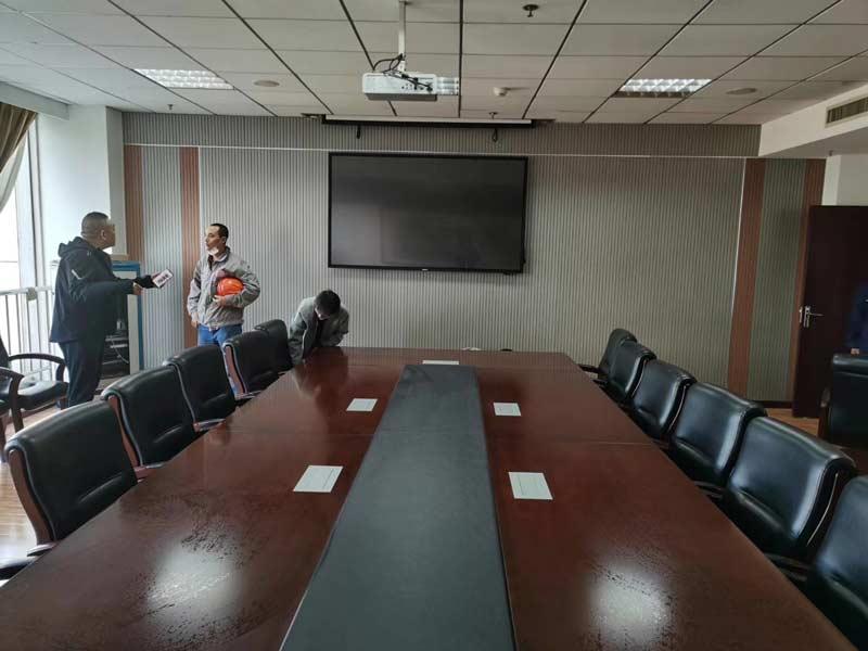 飞利浦会议平板,湖北地质实验测试中心安装案例